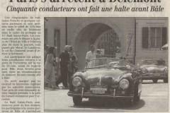 Quotidien Jurassien du 23 août 2001