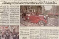 Quotidien Jurassien  du 18 août 2000